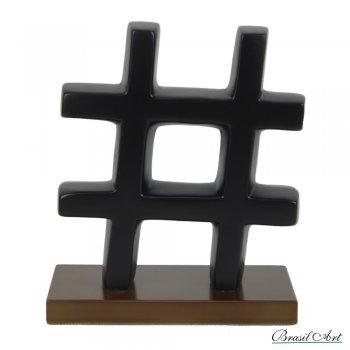 Hashtag em Cerâmica Preto