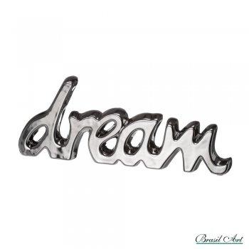Palavra Decorativa Dream Prata