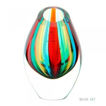 Gota Mini Baixa com Bastões Coloridos em Cristal Murano