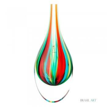 Gota Mini Média com Bastões Coloridos em Cristal Murano