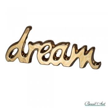 Palavra Decorativa Dream Dourado