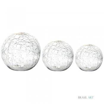 Trio de Bolas Transparente