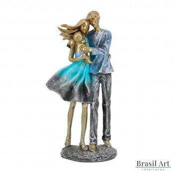 Estátua Casal com Bebê